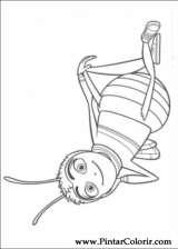 Pintar e Colorir Bee Movie - Desenho 001
