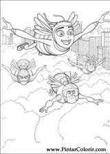 Pintar e Colorir Bee Movie - Desenho 005