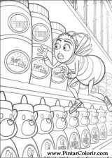 Pintar e Colorir Bee Movie - Desenho 016