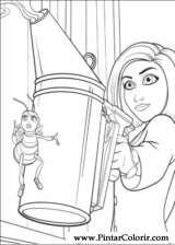 Pintar e Colorir Bee Movie - Desenho 026