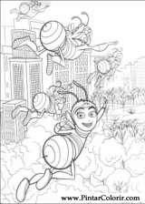 Pintar e Colorir Bee Movie - Desenho 033