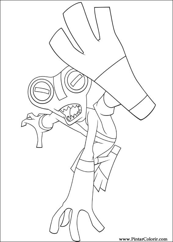 Desenhos Para Pintar E Colorir Ben 10 Imprimir Desenho 010
