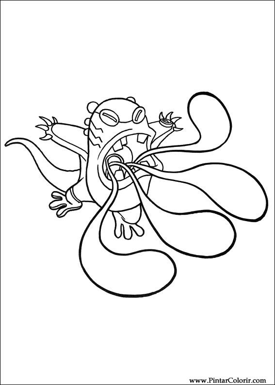 Dibujos para pintar y Color Ben 10 - Diseño de impresión 029