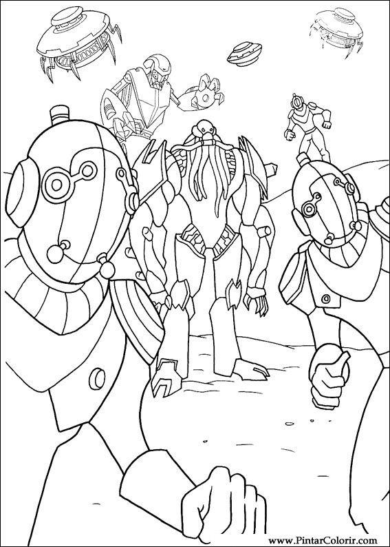 Desenhos Para Pintar E Colorir Ben 10 Imprimir Desenho 047