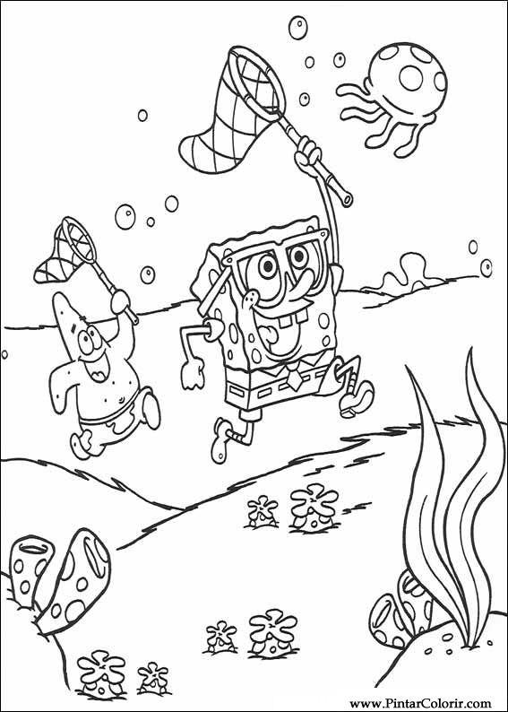 Desenhos Para Pintar E Colorir Bob Esponja Imprimir Desenho 005