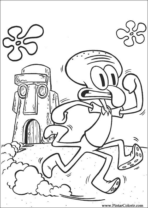 Desenhos Para Pintar E Colorir Bob Esponja Imprimir Desenho 024