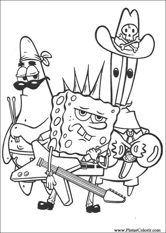 Desenhos Para Pintar E Colorir Bob Esponja Imprimir Desenho 044
