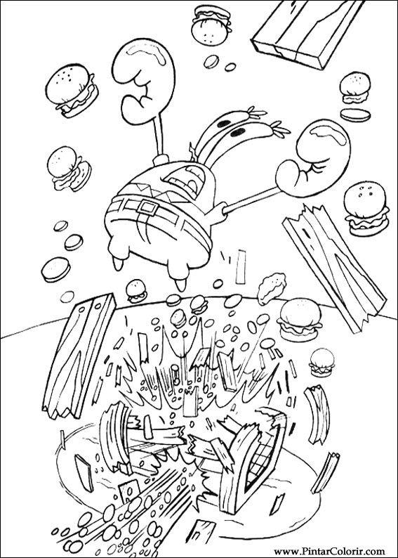 Desenhos Para Pintar E Colorir Bob Esponja Imprimir Desenho 075