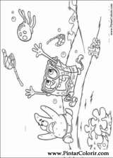 Pintar e Colorir Bob Esponja - Desenho 001