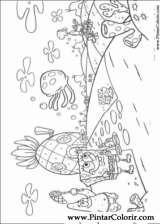 Pintar e Colorir Bob Esponja - Desenho 002