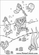 Pintar e Colorir Bob Esponja - Desenho 005