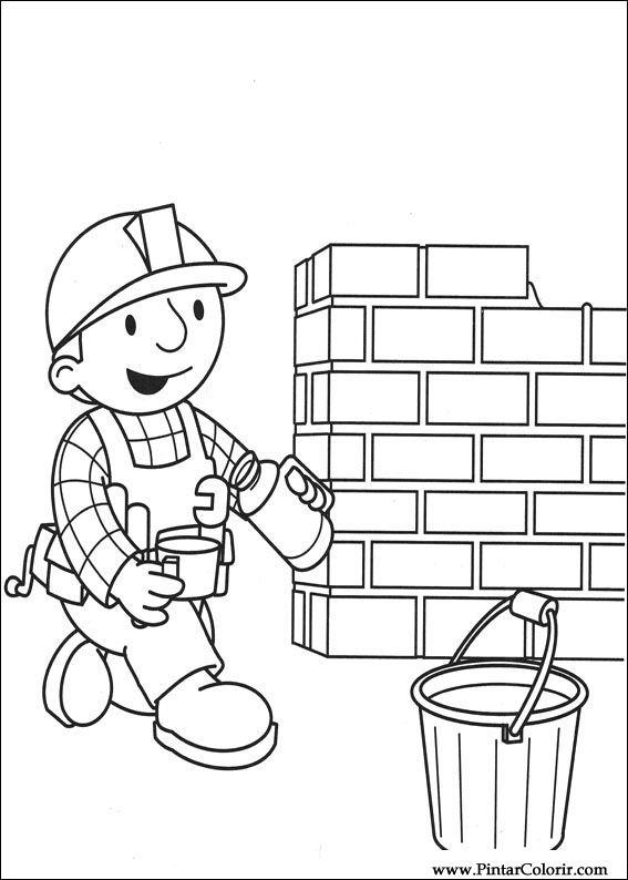 Dibujos para pintar y Color Bob The Builder - Diseño de impresión 008