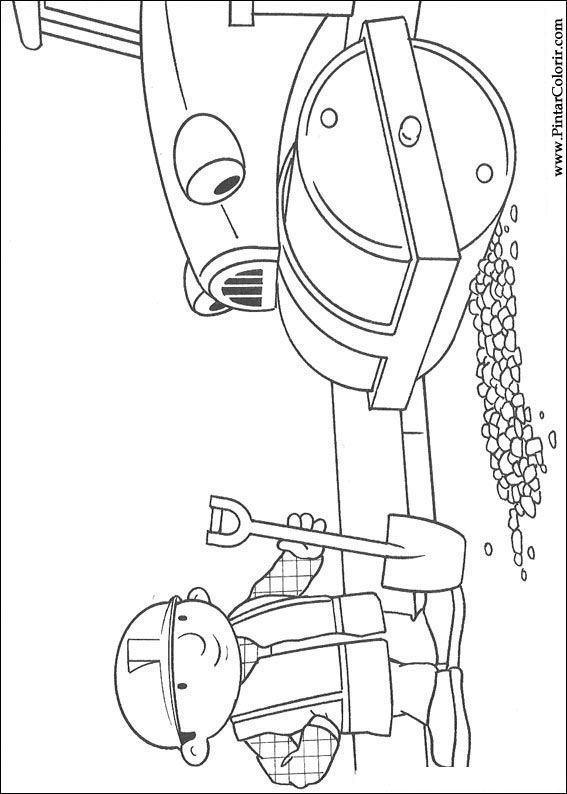 Dibujos para pintar y Color Bob The Builder - Diseño de impresión 048