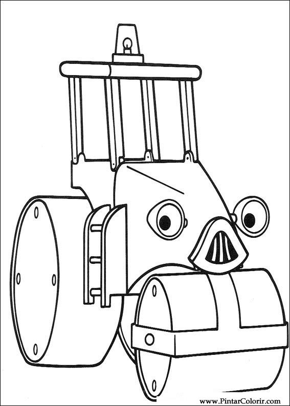 Dibujos para pintar y Color Bob The Builder - Diseño de impresión 070
