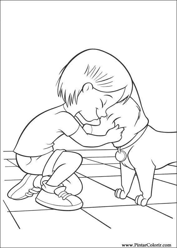Pintar e Colorir Bolt - Desenho 001