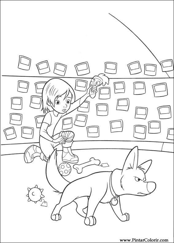 Pintar e Colorir Bolt - Desenho 009