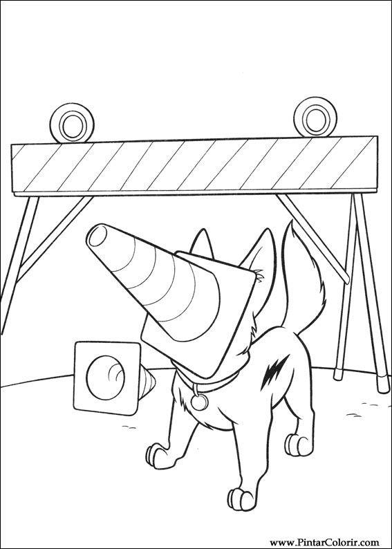 Pintar e Colorir Bolt - Desenho 011