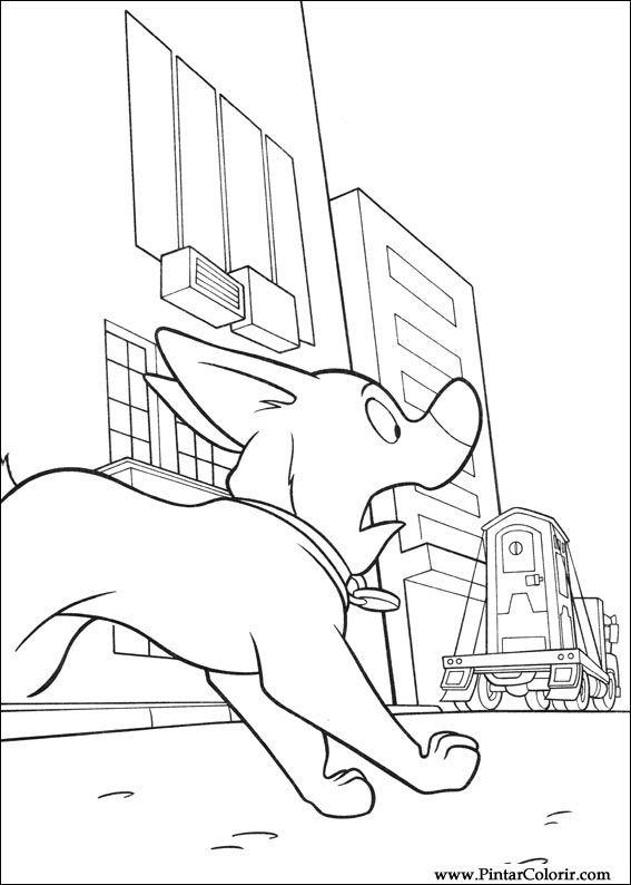Pintar e Colorir Bolt - Desenho 012
