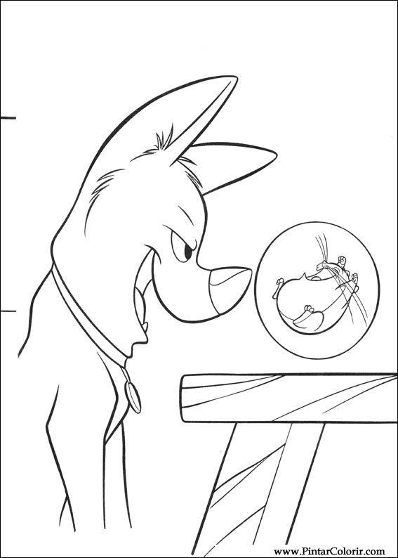 Desenhos Para Pintar E Colorir Bolt Imprimir Desenho 022
