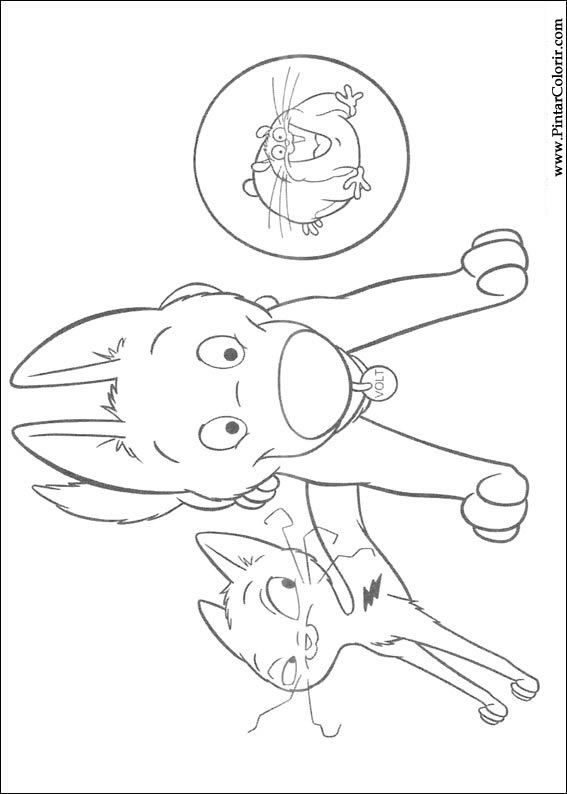 Desenhos Para Pintar E Colorir Bolt Imprimir Desenho 050