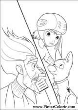 Pintar e Colorir Bolt - Desenho 004