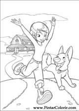 Pintar e Colorir Bolt - Desenho 045