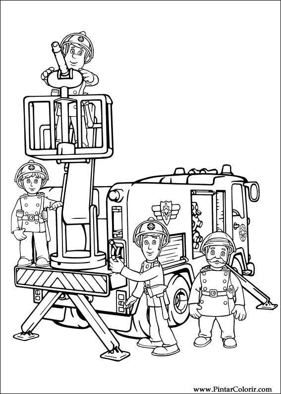 Drawings To Paint Colour Fireman Sam