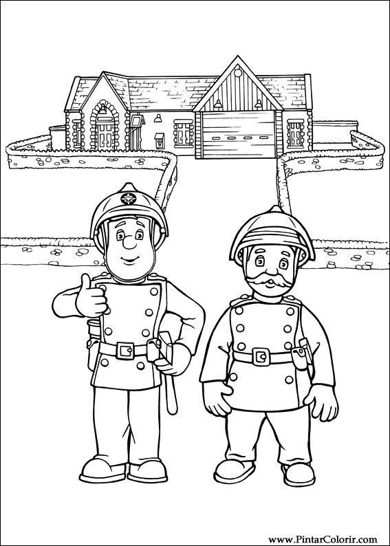 Desenhos Para Pintar E Colorir Bombeiro Sam Imprimir Desenho 012