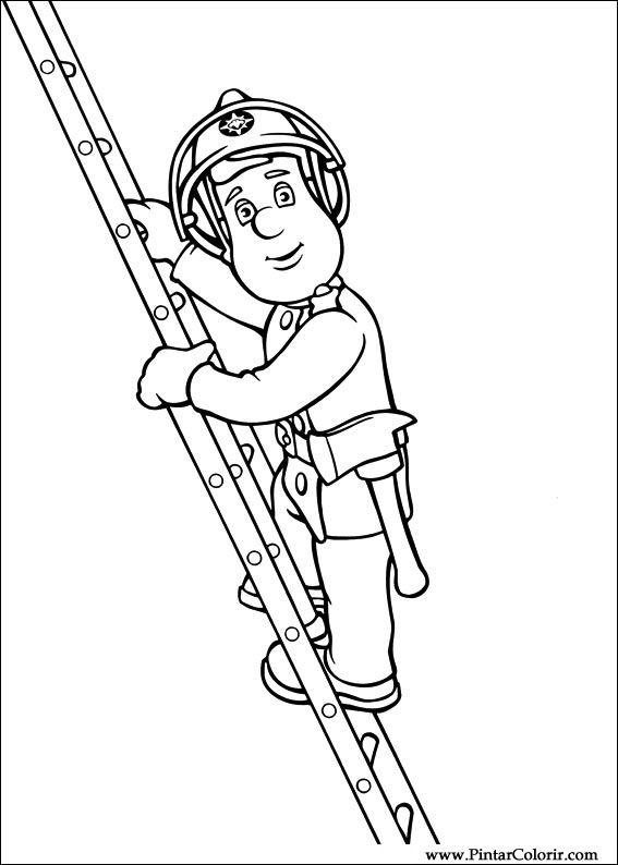 Gratis Kleurplaten Fireman Sam.Desenhos Para Pintar E Colorir Bombeiro Sam Imprimir