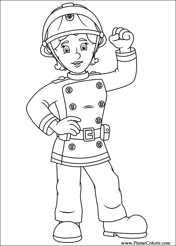 Desenhos Para Pintar E Colorir Bombeiro Sam Imprimir Desenho 064