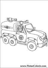 Pintar e Colorir Bombeiro Sam - Desenho 003