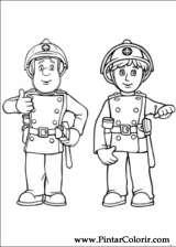 Pintar e Colorir Bombeiro Sam - Desenho 005
