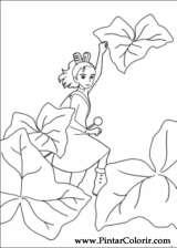 Pintar e Colorir Borrower Arrietty - Desenho 001