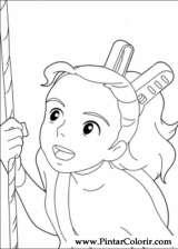 Pintar e Colorir Borrower Arrietty - Desenho 002