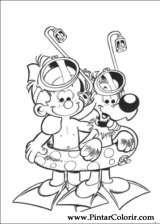 Pintar e Colorir Boule E Bill - Desenho 015