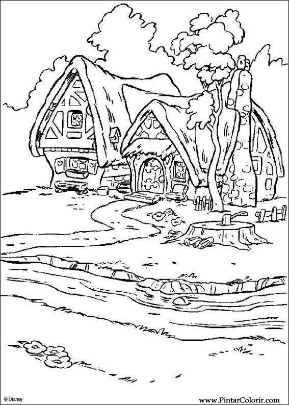 Desenhos Para Pintar E Colorir Branca De Neve Imprimir Desenho 009