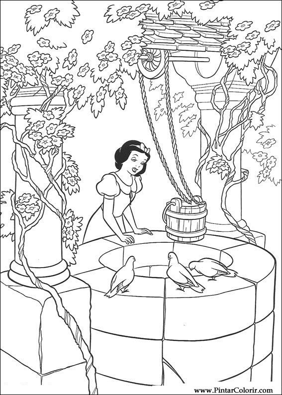 Desenhos Para Pintar E Colorir Branca De Neve Imprimir Desenho 017