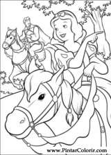 Pintar e Colorir Branca De Neve - Desenho 005