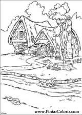 Pintar e Colorir Branca De Neve - Desenho 009