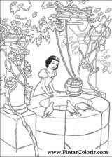 Pintar e Colorir Branca De Neve - Desenho 017