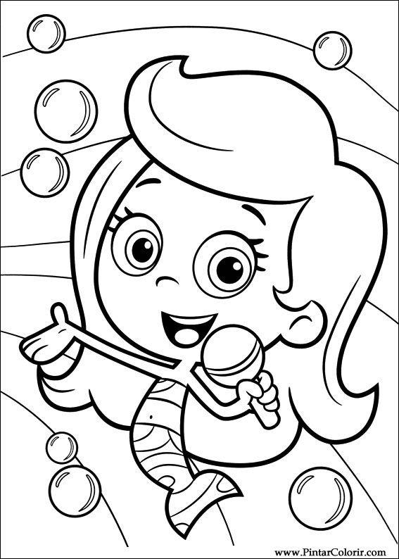 Pintar e Colorir Bubble Guppies - Desenho 009