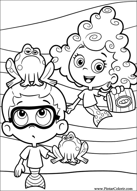 Pintar e Colorir Bubble Guppies - Desenho 011