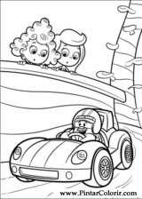 Pintar e Colorir Bubble Guppies - Desenho 002