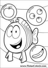 Pintar e Colorir Bubble Guppies - Desenho 008