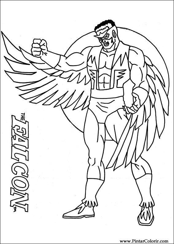 çizimler Boya Ve Renk Kaptan Amerika Için Baskı Tasarım 018
