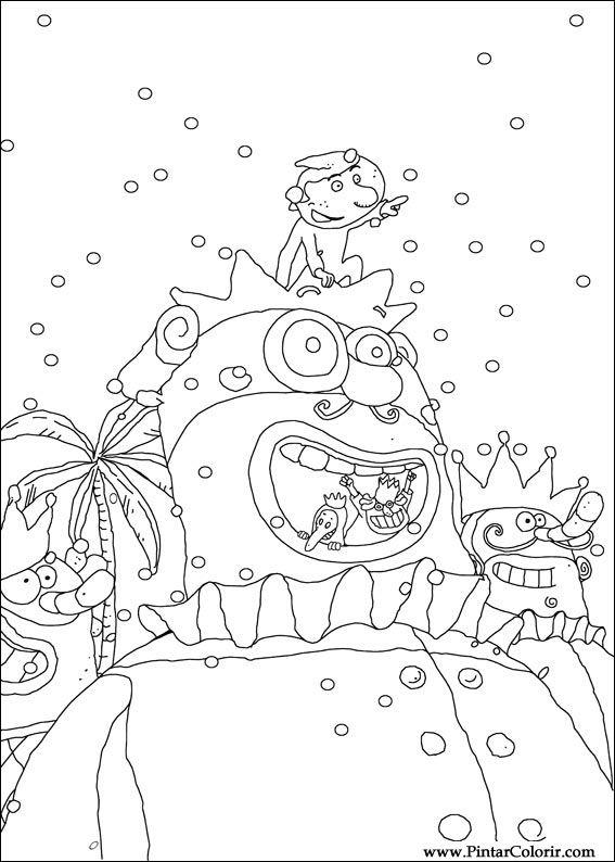 Zeichnungen Zu Malen Und Farbe Karneval Print Design 004
