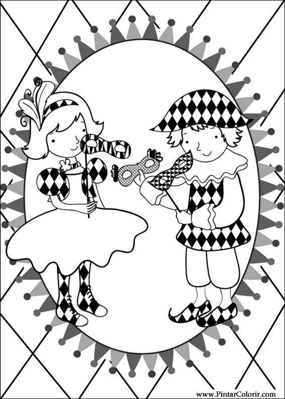 Desenhos Para Pintar E Colorir Carnaval Imprimir Desenho 005