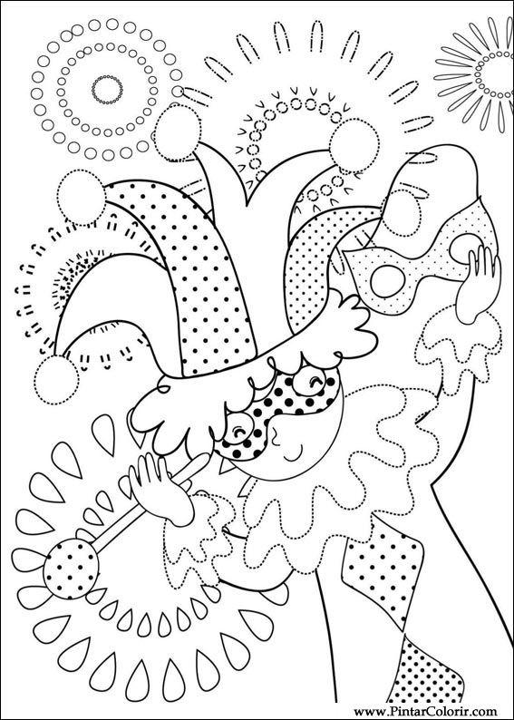 Dibujos para pintar y Color Carnaval - Diseño de impresión 006