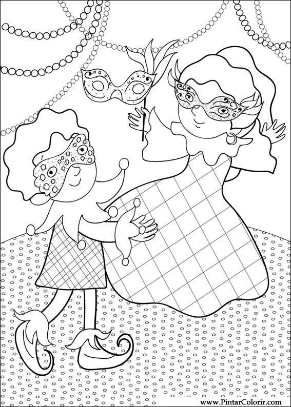 Desenhos Para Pintar E Colorir Carnaval Imprimir Desenho 007