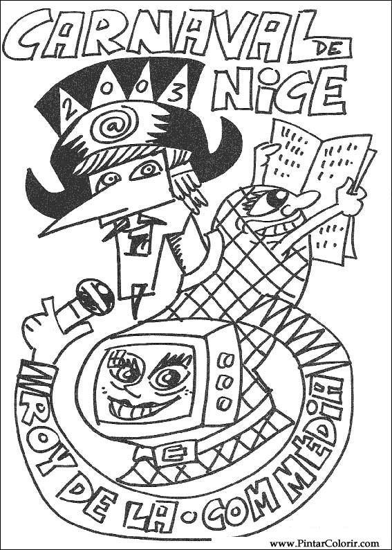 Desenhos Para Pintar E Colorir Carnaval Imprimir Desenho 008